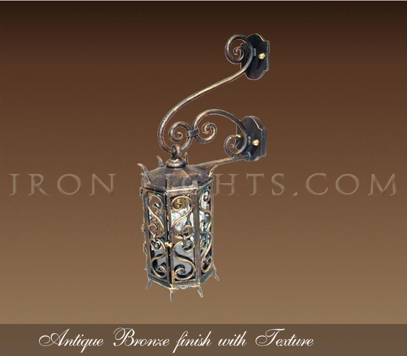 Antique bronze finish