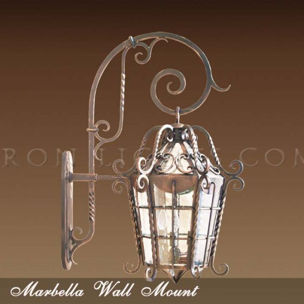 Spanish hacienda outdoor lighting fixtures
