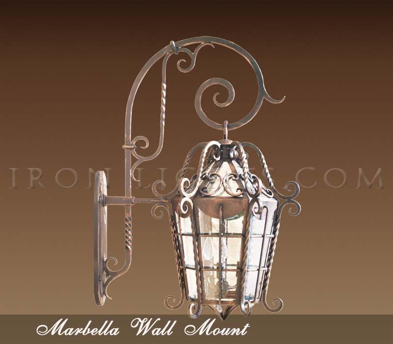 Spanish hacienda outdoor lighting fixtures