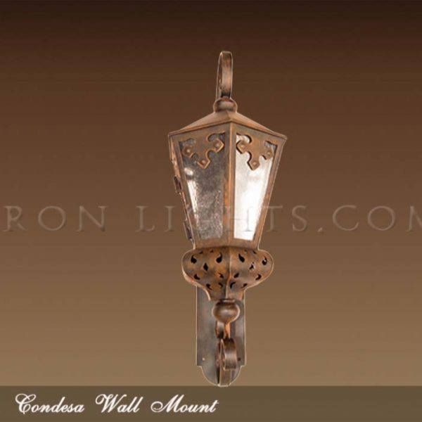 Condesa wrought iron outdoor lighting