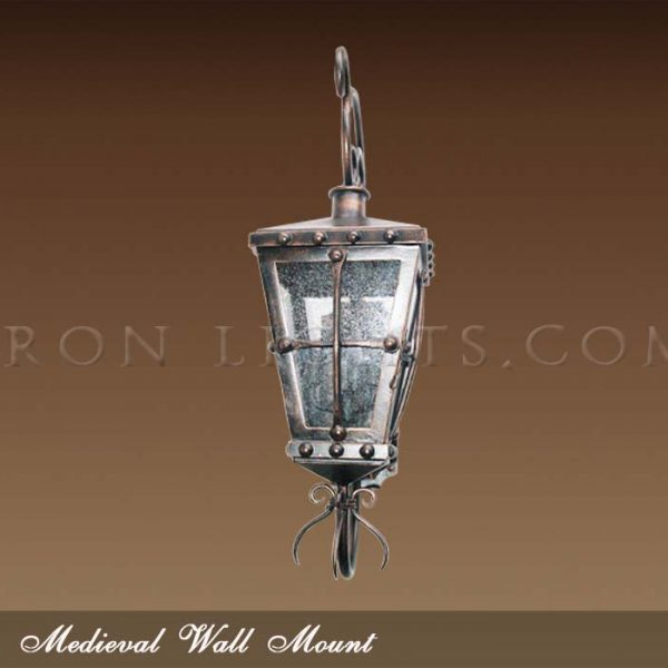 Medieval outdoor wall sconce