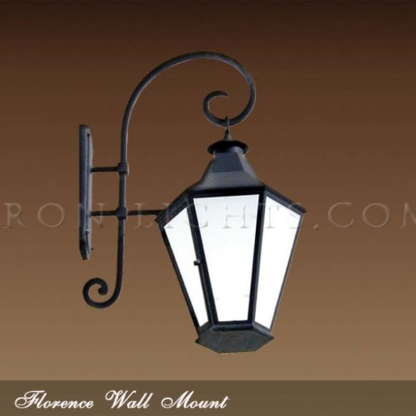 Wrought iron Florence light