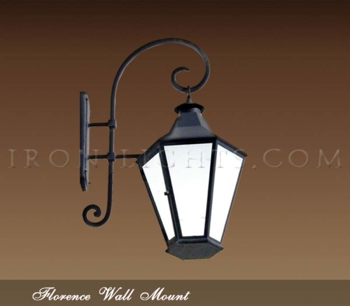 Outdoor Wrought Iron Light Fixtures