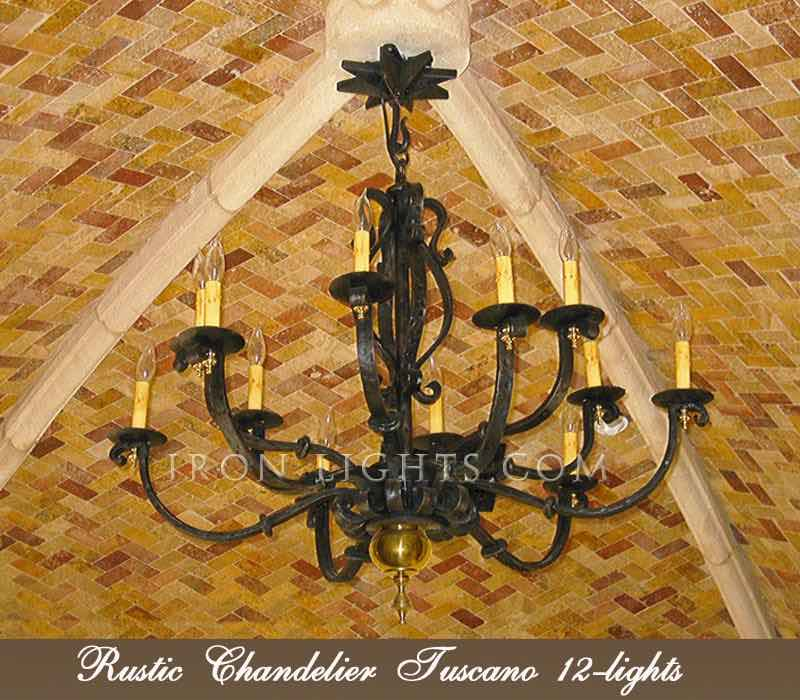 Rustic iron chandeliers