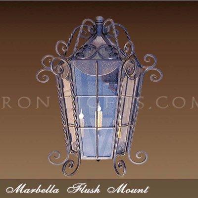 Spanish revival pocket light