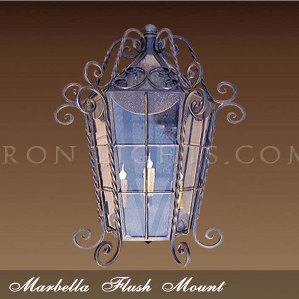 Spanish revival pocket light
