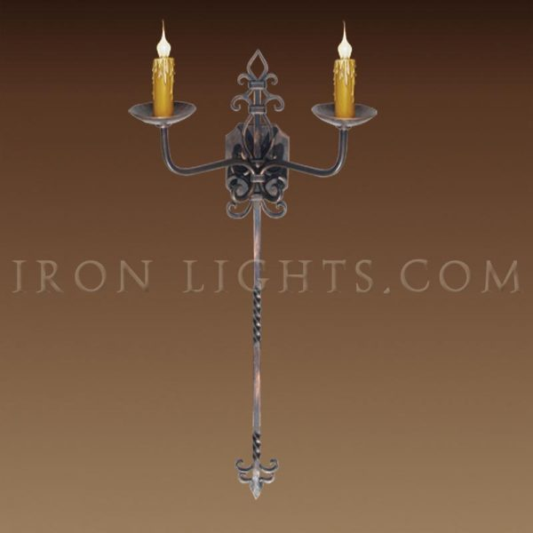 Toledo Tall wall sconce