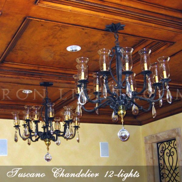 Tuscano Wrought Iron Chandelier