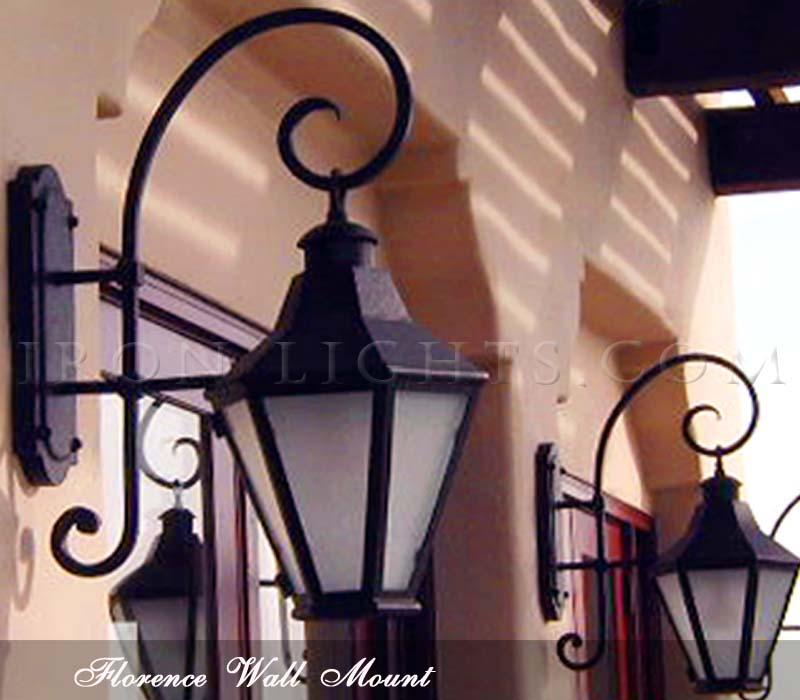 Outdoor wrought iron lighting