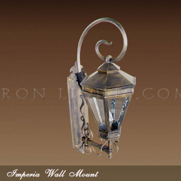 Wrought iron outdoor lighting