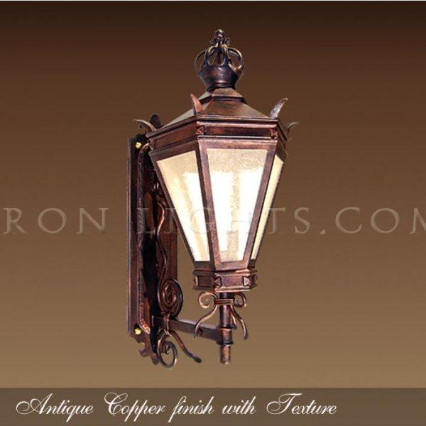 Outdoor lights antique copper
