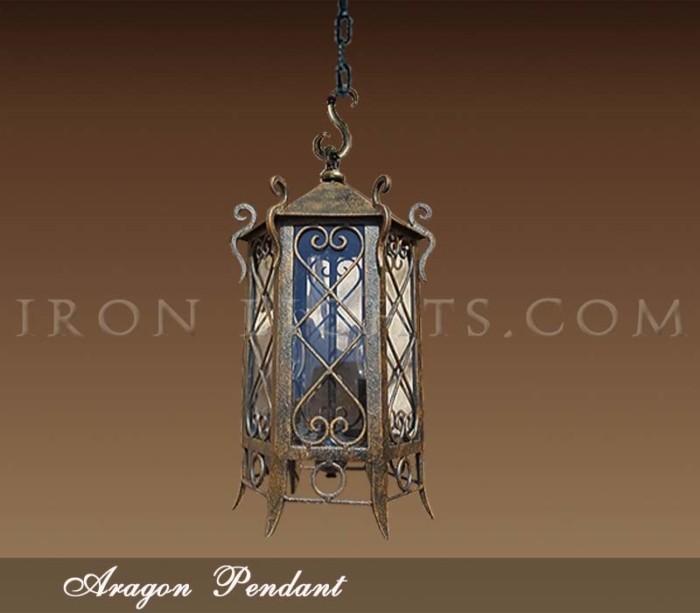 Iron Pendant Lights Spanish Aragon Gallery Llc