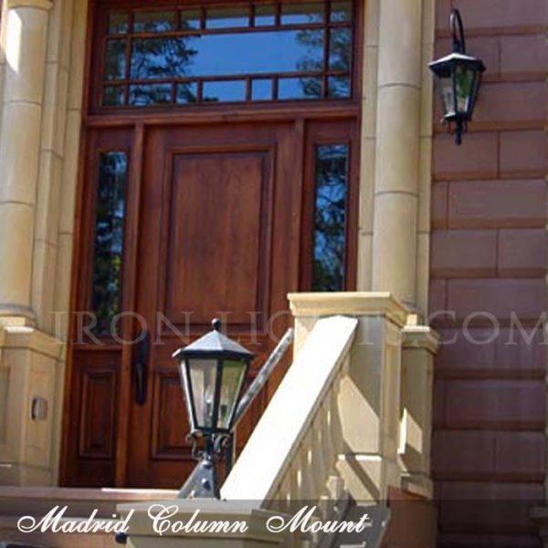 Mediterranean pilaster iron fixtures