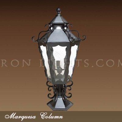 Column mount lights