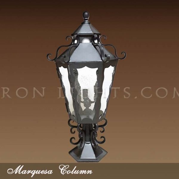Column mount lights