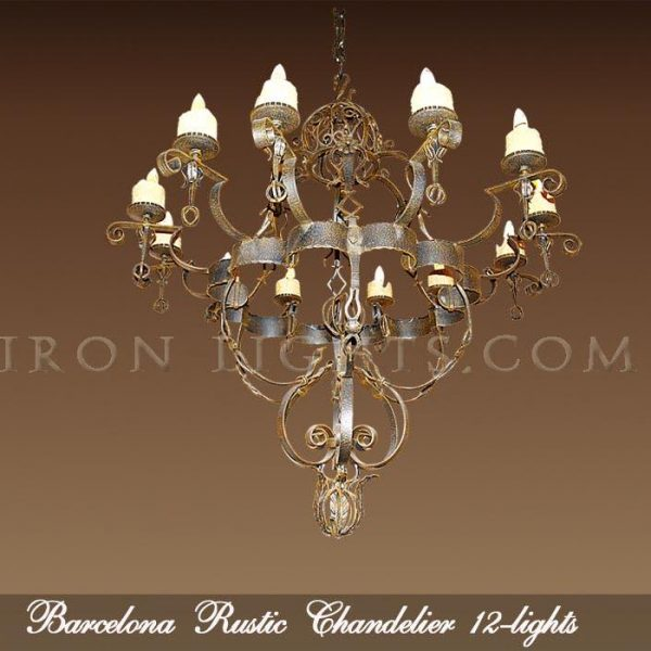Black Iron Chandelier Barcelona