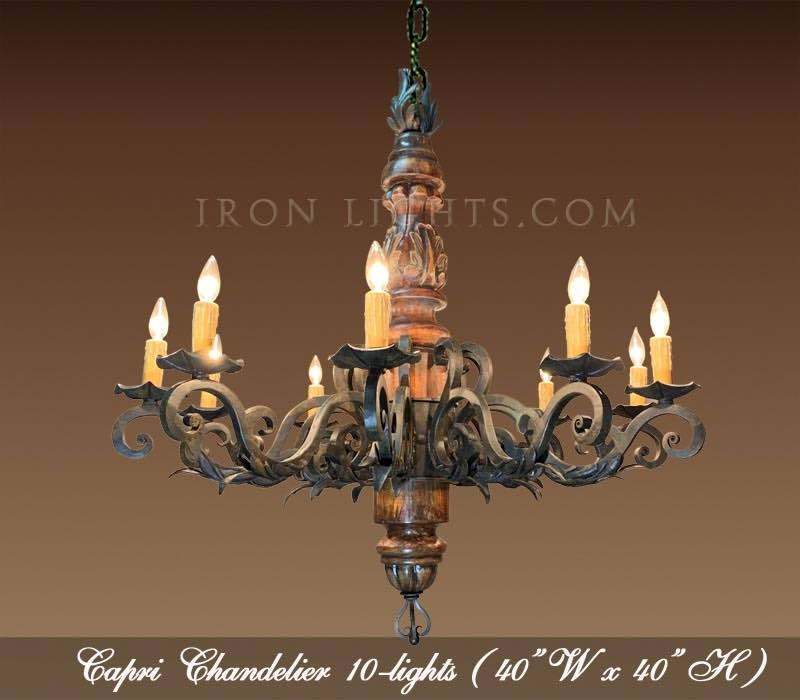 Capri wood chandelier