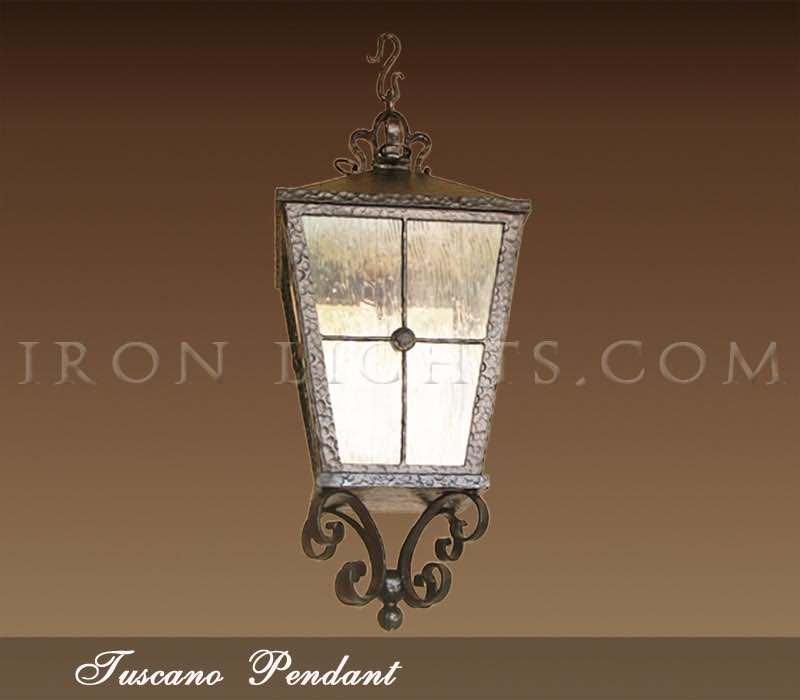 Outdoor pendant lights