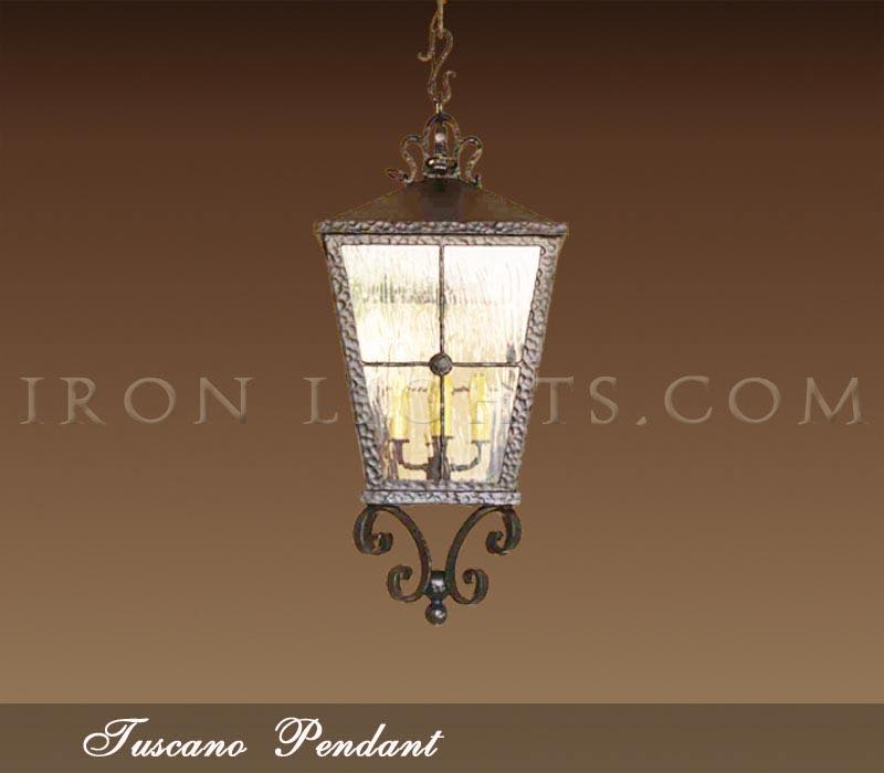 Mediterranean Pendant Lights Wrought Iron Outdoor