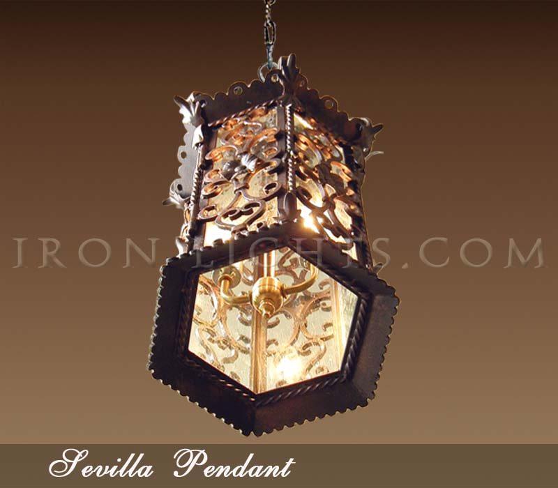 Spanish Revival Pendant Lighting Iron