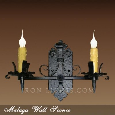 Spanish hacienda iron wall sconce