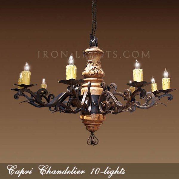 Mediterranean wooden chandeliers