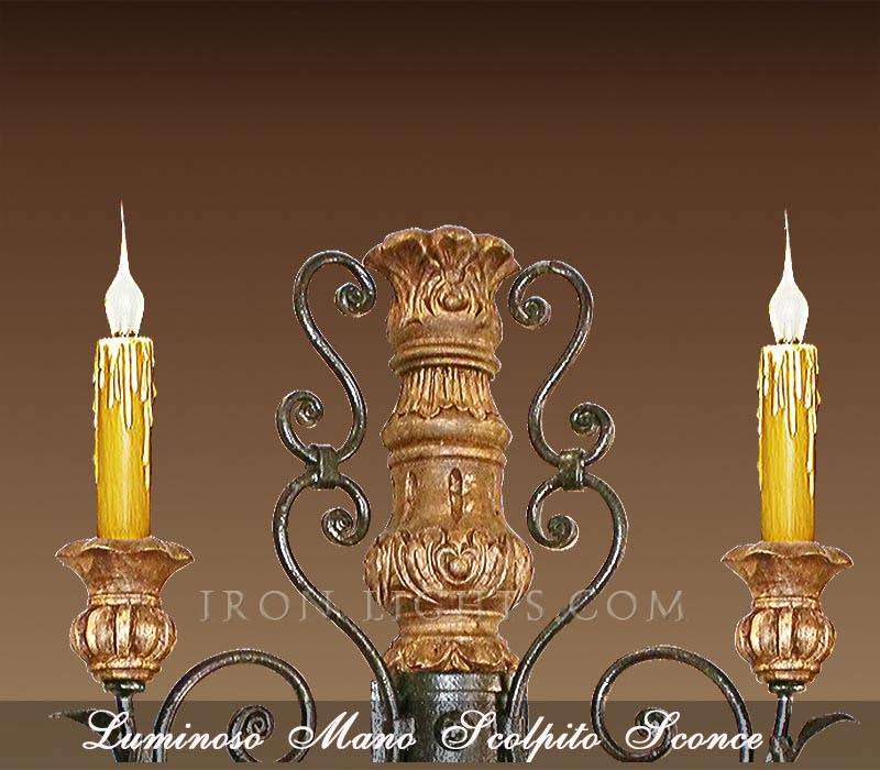 2 Hand Forged Rusty Old World Wrought Iron Wall Sconces Candle Holders