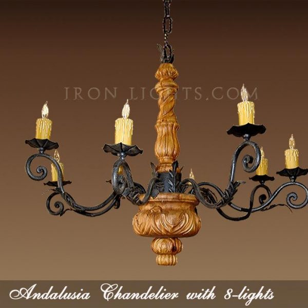 Andalusia Wooden Chandelier