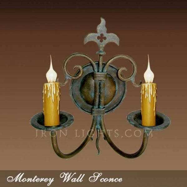 Monterey iron wall sconce
