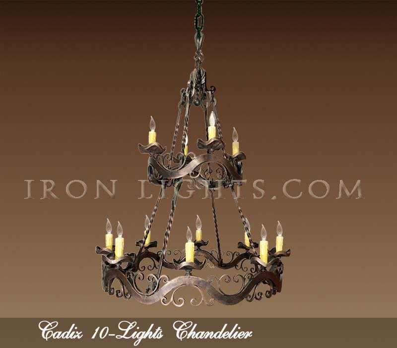 Hacienda chandeliers with two tiers