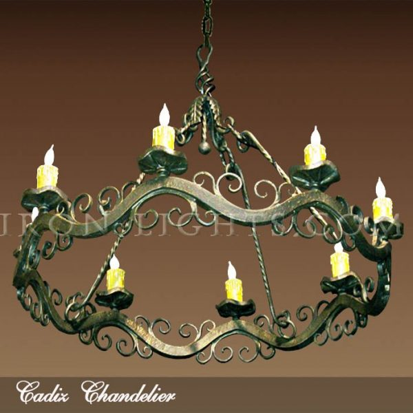 Wrought iron chandeliers