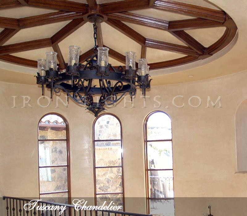 Tuscany rustic iron chandelier