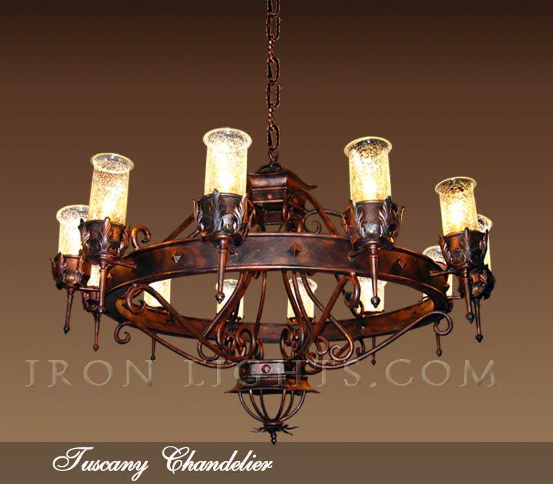 Black iron chandeliers