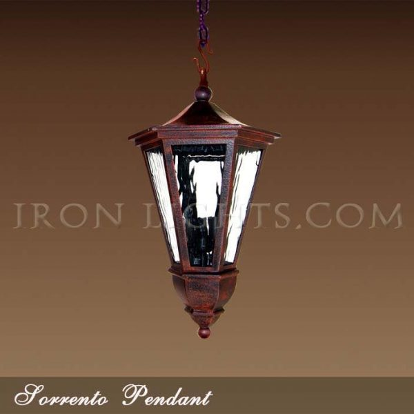 Mediterranean outdoor pendants