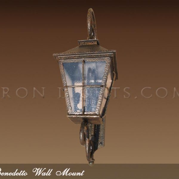Wrought iron wall mount fixture