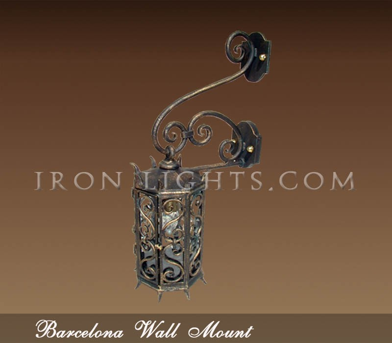 Barcelona Spanish style wall sconce