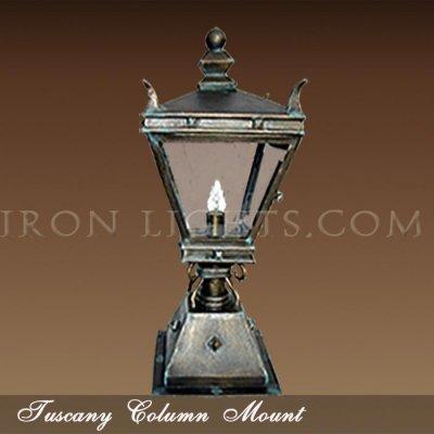 Tuscany post mount light