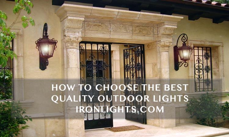 Wrought iron lights