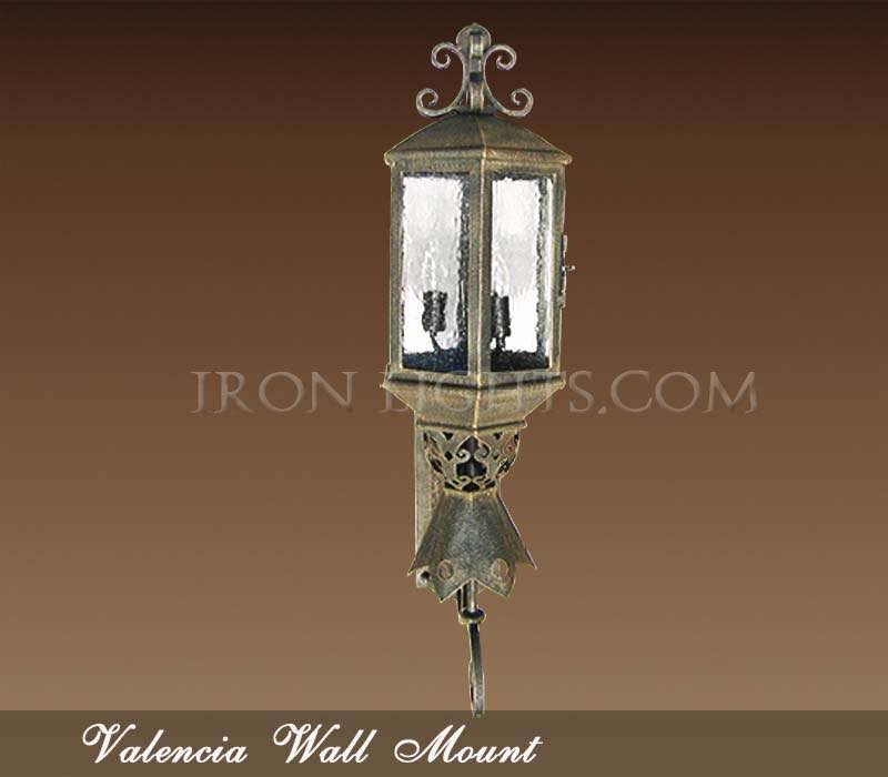 Spanish revival wall sconce