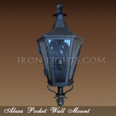 Pocket outdoor light fixtures