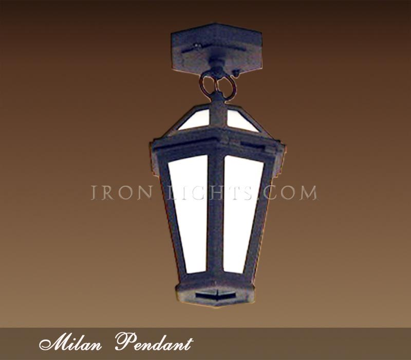 Iron pendant lights Milan