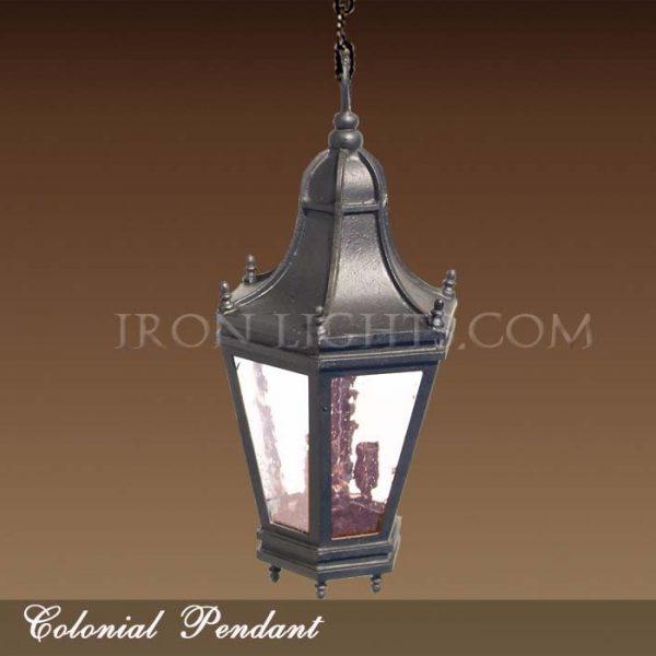 Iron pendant light